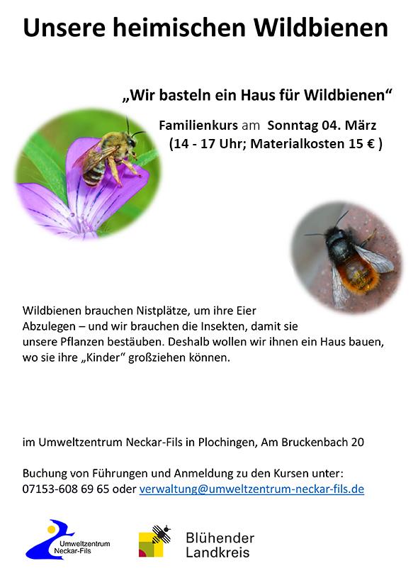 Wir basteln ein Haus für Wildbienen | Umweltzentrum Neckar - Fils ...